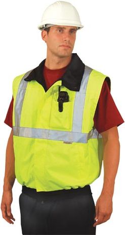 Occunomix OccuLux Rain Jacket LUX-TJBJ - High Visibility Bomber Jacket into Vest Conversion with Removable Sleeves