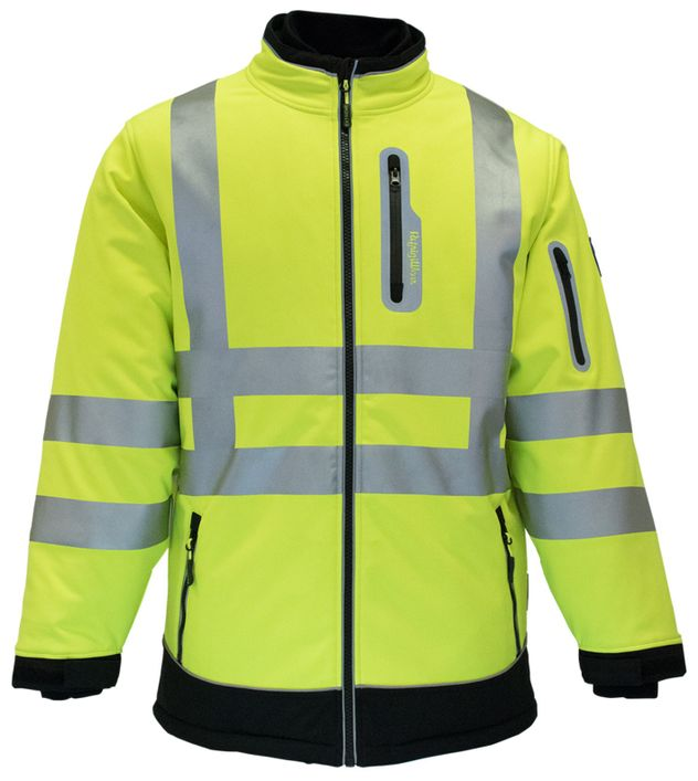 RefrigiWear 0796 HiVis Extreme Collection Softshell Jacket Front