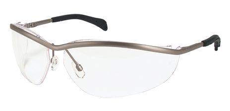 MCR Safety Crews Klondike Metal Safety Glasses Clear Lens