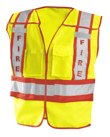 Occunomix Fire Safety Vest LUX-PSF - Public High-Visibility Front