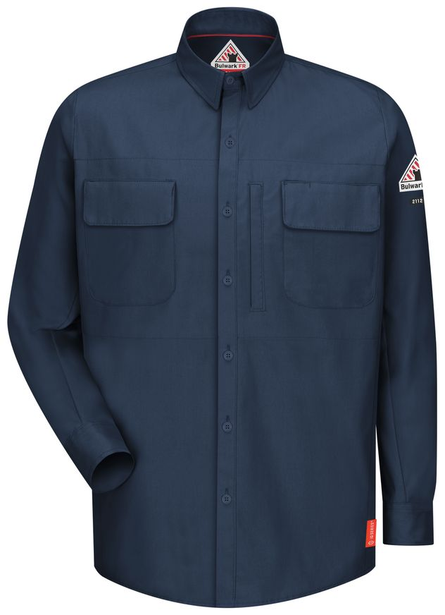bulwark-fr-shirt-qs32-iq-series-comfort-woven-long-sleeve-patch-pocket-dark-blue-front.jpg