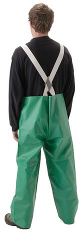 nasco acidbasic green chemical resistant rain suit bibs