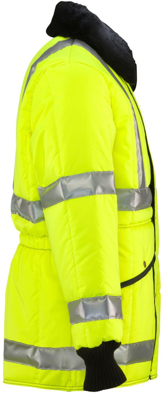 RefrigiWear 0342L2 HiVis Iron-Tuff Jackoat Lime Right