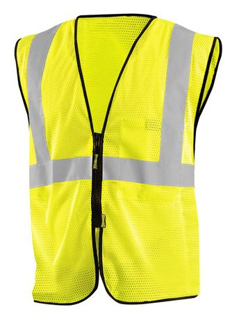 Occunomix ECO-GCZ Mesh Standard Vest With Zipper Yellow Front
