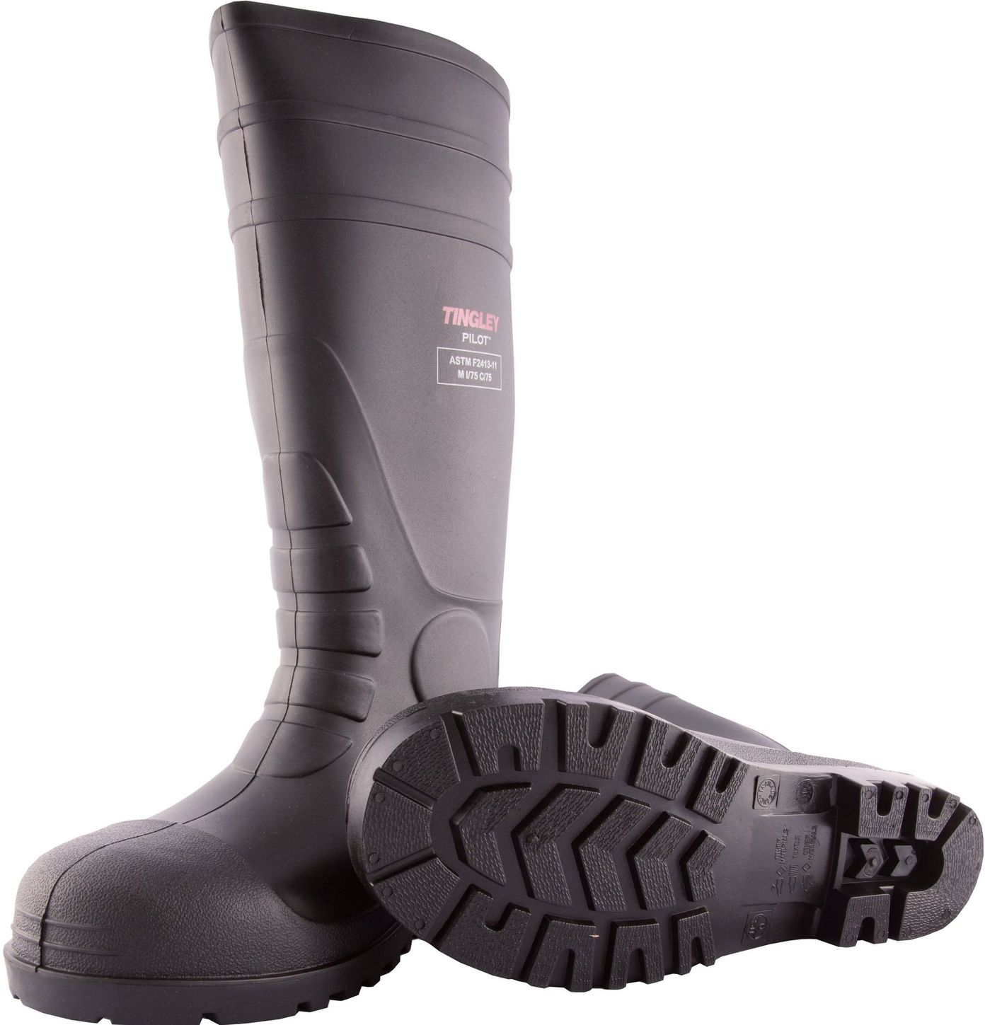 """Tingley 31251 Economical Steel Toe PVC Rubber Work Boots - 15"""" Tall"""