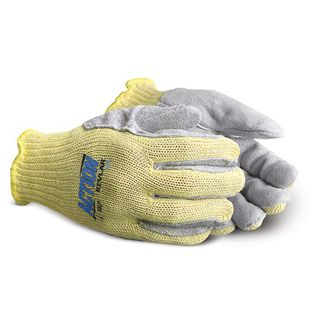 Superior Glove Action Cut Resistant Gloves SKLP - Leather Palm Kevar Knit Gloves, Gun cut Style