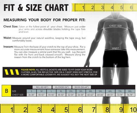 Occunomix size chart B