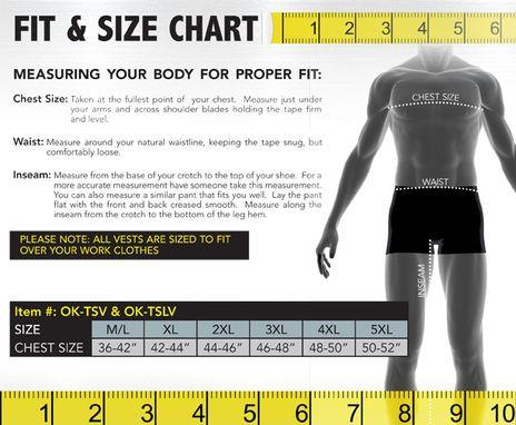 Occunomix size chart OK-TSV/TSLV