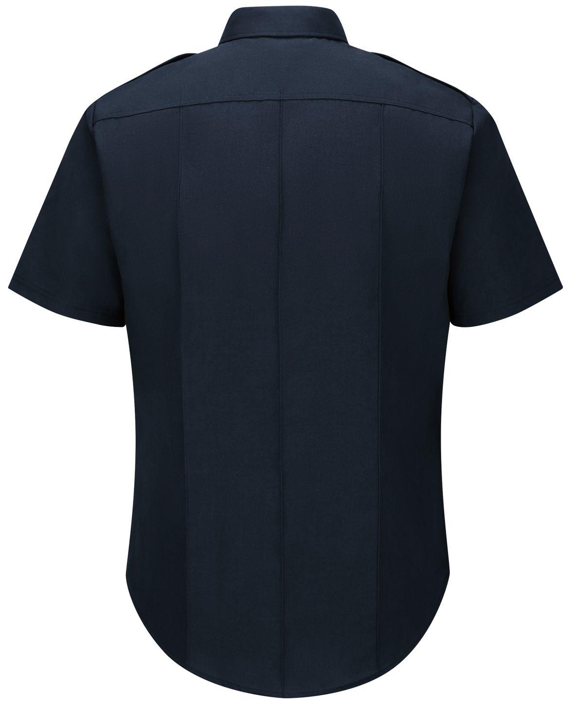 Workrite FR Fire Officer Shirt FSE2, Classic Short Sleeve Midnight Navy Back
