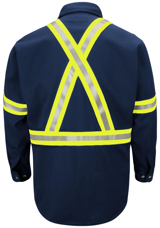 bulwark-fr-shirt-sluc-midweight-enhanced-visibility-uniform-reflective-trim-navy-back.jpg