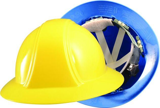 Occunomix VF200 Full Brim Hard Hat w/Ratchet Suspension Yellow