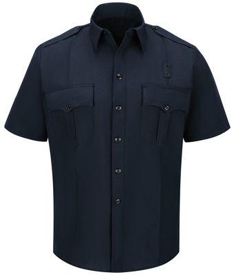 Workrite FR Fire Officer Shirt FSE2, Classic Short Sleeve Midnight Navy Front