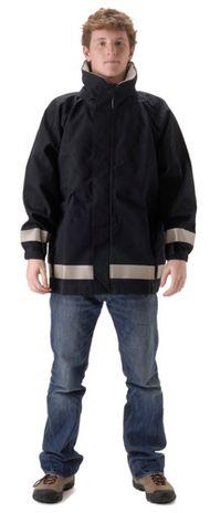 nasco mp3 flash fire resistant rain jacket navy