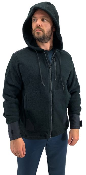 Bulwark FR Modacrylic Blend Fleece Hoodie SMH8 Front Zip Front