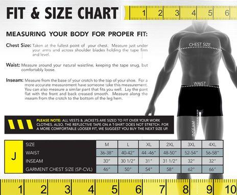 Occunomix size chart J
