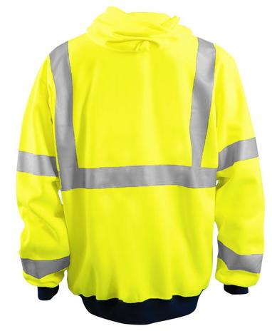 Occunomix LUX-HZSWT Full Zip Hoodie Black Yellow