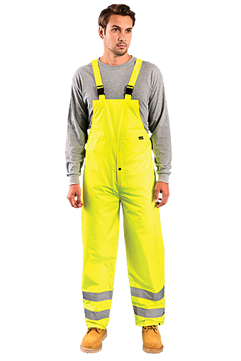 Occunomix LUX-TRBIB High Visibility Breathable Bib Rain Pants, Class E