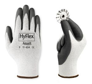 Ansell Hyflex 11-624 PU Coated Dyneema Blend Gloves
