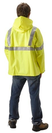 Nasco WorkChoice Hi Viz 513J221 Batwing Sleeve Waterproof Rain Jacket