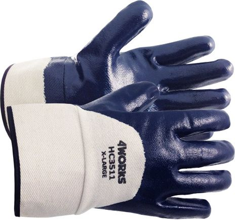 4Works HC3511 Heavy Duty Nitrile Coated Gloves