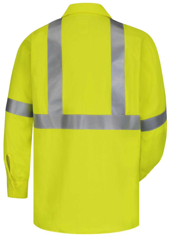 bulwark-fr-hi-visibility-shirt-smw4-midweight-work-yellow-green-back.jpg