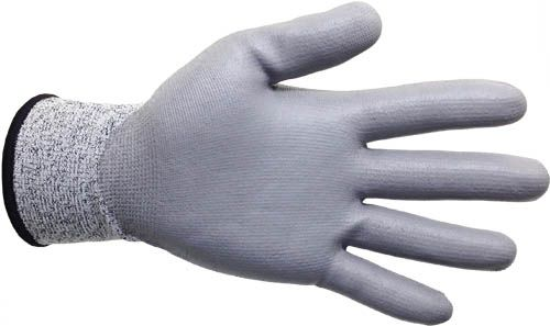 4Works HX1303 PU Coated Cut Resistant Gloves, Palm View