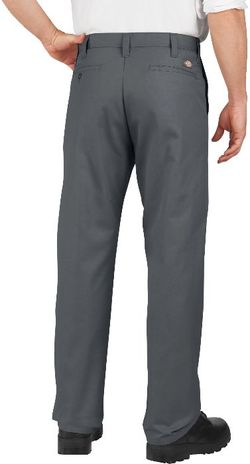 Dickies Men's Pants - Industrial Flat Front Pant LP812 - Charcoal