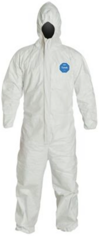 DuPont Tyvek Disposable Suit with Hood & Elastic Wrists & Ankles - TY127SWH Front