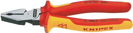 "Knipex 8"" Insulated Combination Pliers 02 08 200"
