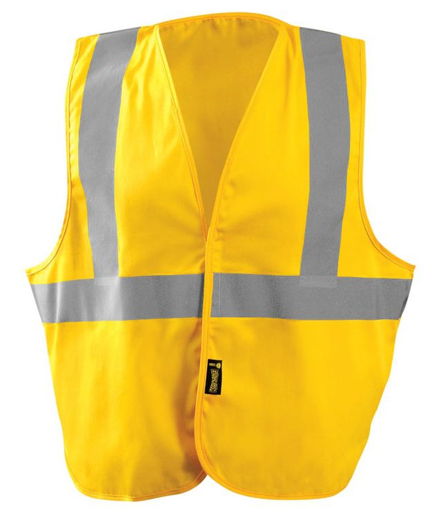 Occunomix LUX-XSGFR Hi-Viz Flame Resistant NON-ANSI Solid Vest Front