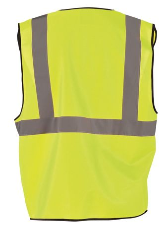 Occunomix ECO-G High Visibility Solid Standard Vest Back Yellow