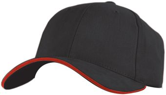 RefrigiWear 6145 — Brushed Sandwich Ball Caps Dozen Black And Red