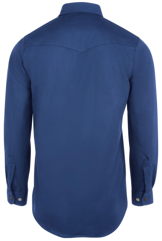 bulwark-fr-shirt-ses2-midweight-excel-snap-front-uniform-royal-blue-back.jpg
