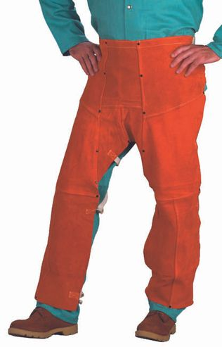 Chicago Protective 555-CL Rust Split Leather Welding Chaps