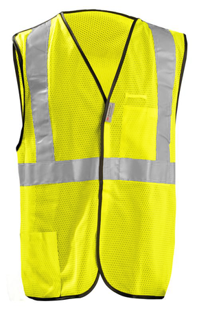 Occunomix OccuLux Cool Mesh, High Visibility, and Break Away Vest LUX-SSBRPC Front