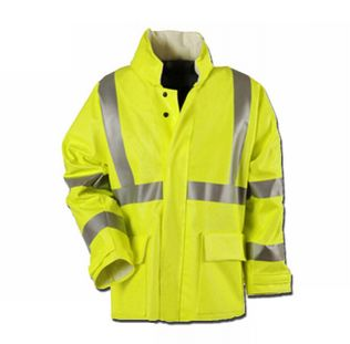Cementex CHVRJ3 Arc Rated Hi Viz Rain Jacket, ANSI 107 Class 3, Level 2