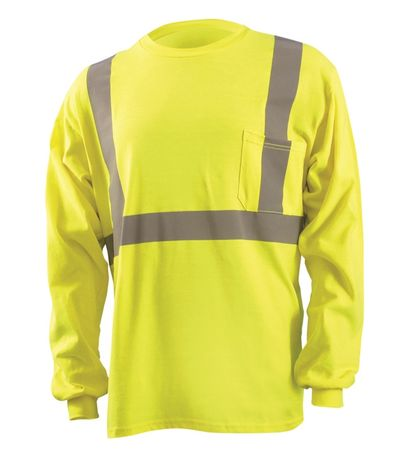 Occunomix Hi Vis FR Fire Retardant Arc Flash Shirt - LUX-LST2/FR Front