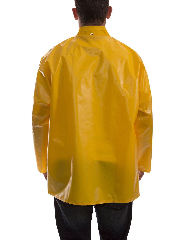 Tingley J22207 Iron Eagle® Chemical Resistant Jacket - Polyurethane Coated, with Hood Snaps Gold Back