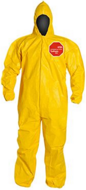 DuPont Tychem QC Coverall with Hood & Elastic Wrists & Ankles - QC127 Front