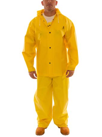 Tingley S56307 DuraScrim™ Fire Resistant Suit - 3 Piece, PVC Coated, Chemical Resistant, with Detachable Hood Snaps