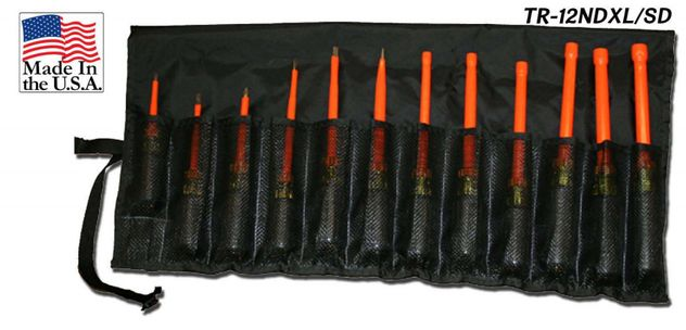 Cementex TR-12NDXL/SD Insulated Nut Driver/Screw Driver Kit, 12PC