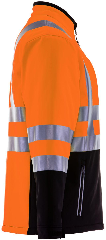 RefrigiWear 0496 Softshell HiVis Winter Work Jacket HiVis Orange With Reflective Tape Right
