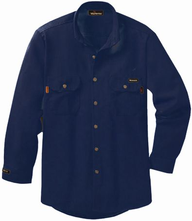 Workrite 7 oz Nomex FR Dress Shirt 258MH70 Navy Blue