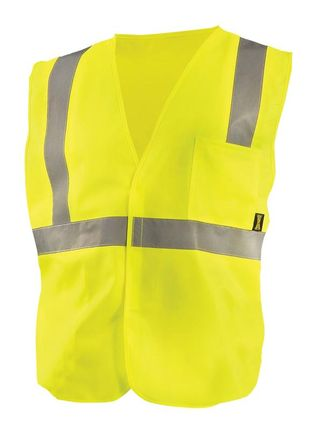 Occunomix Class 2 ECO-IS Solid Standard Vest Front Yellow