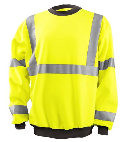 Occunomix LUX-CSWT Crew Neck Sweatshirt Front Yellow