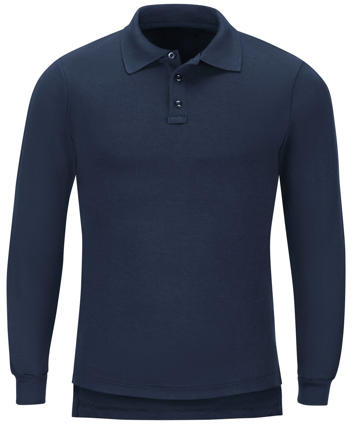 Workrite FR Polo Shirt FT20 Long Sleeve Fire Station Wear Navy Front