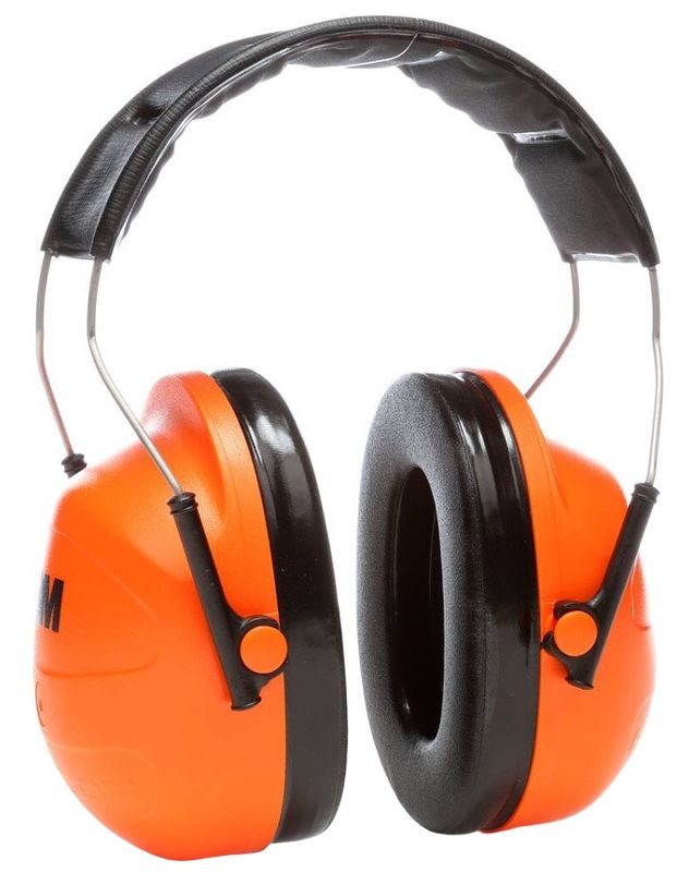 3M Peltor Orange Earmuffs Hi-Viz H31A Front