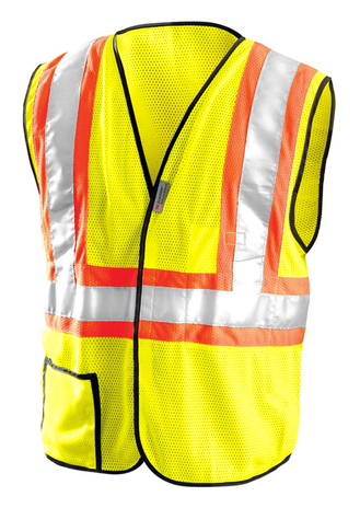 Occunomix OccuLux Two-Tone, Cool Mesh, and High Vis Vest LUX-SSCOOL2 Front