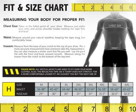 Occunomix size chart H