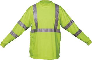 Class 3 Hi Vis Safety Shirt OK-1 TL3-04 in Lime Yellow